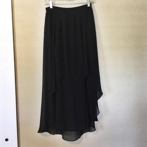 High-Low Bohemian Anthropologie Maxi Skirt